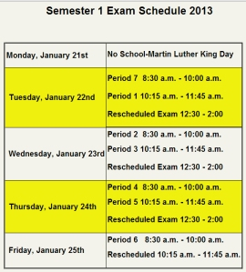 Semester1 Schedule