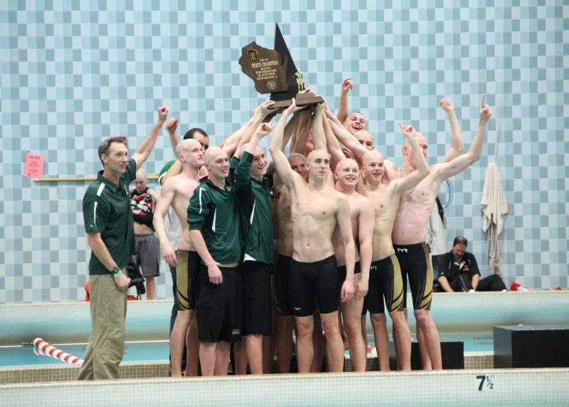 JMM Swimmer Boys Win State!