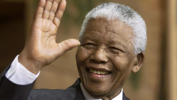 Former South African President Nelson Mandela (1918-2013). (Photo Credit: Canadian Broadcasting Corporation)